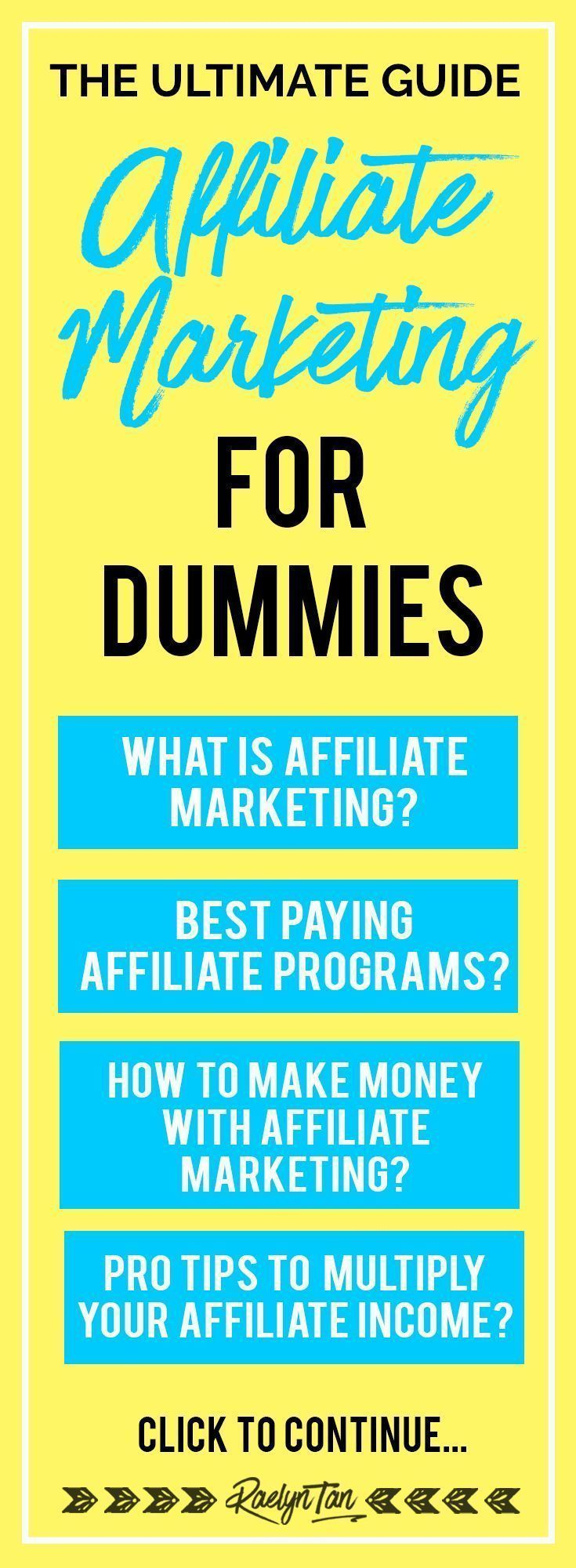 The Ultimate Guide: Affiliate Marketing For Dummies ...