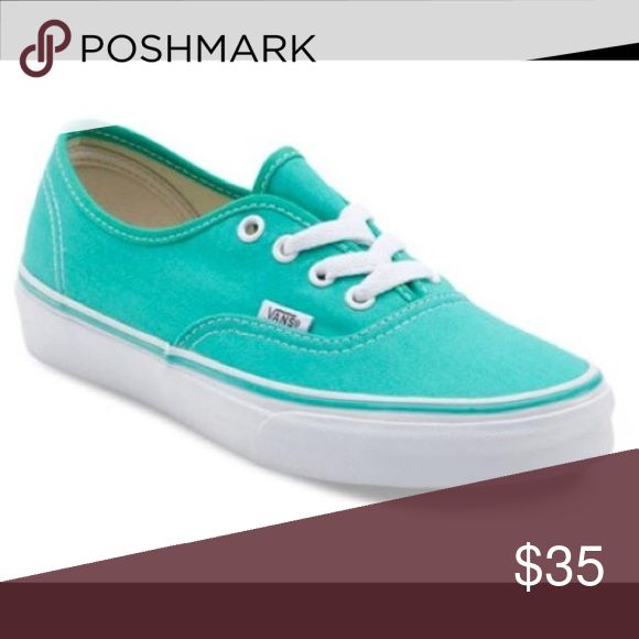 Mint/Teal Vans Mint/Teal Vans 7.5, never worn Vans Shoes Sneakers