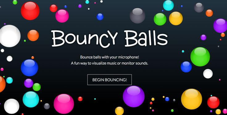 Help your class work quietly by trying to keep the balls still: Bouncy Balls (Must have a microphone to work.)