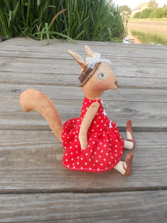 Woodland squirrel doll  Woodland animals  Woodland by FelThink