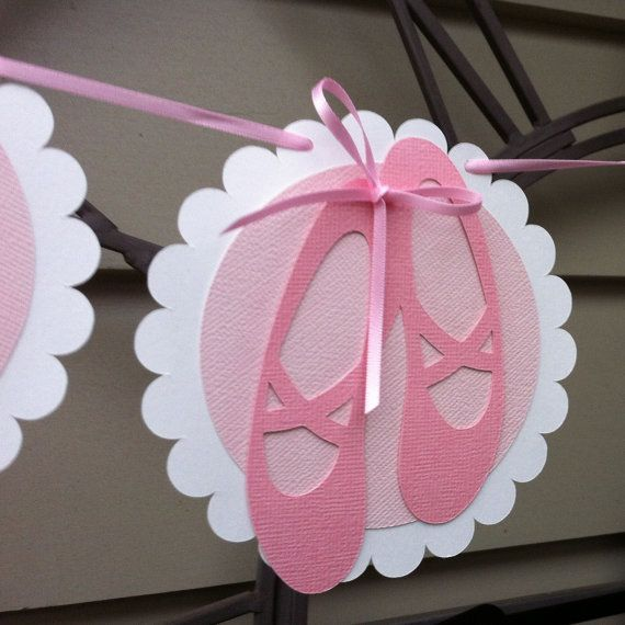 Ballerina party scallops and ballerina on pinterest for Ballet shoes decoration