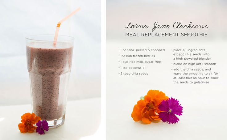 Lorna's Fave Meal Replacement Smoothie - Move Nourish Believe @Lorna Jane  @Fit Approach #lornajanespringclean