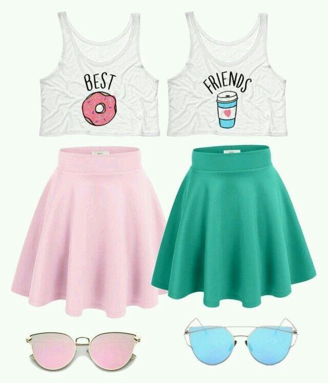 Best friend T-shirt skirt and sunglasses – #Friend…