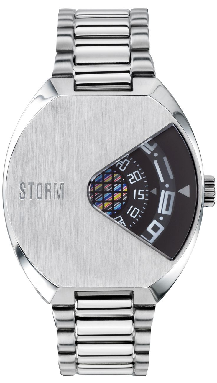 Storm Vadar Black Watch - The Special Edition Vadar is unique to STORM featuring rotating disc movement with which to tell the time. This futuristic watch is made from stainless steel and is water resistant up to 50m.     Cool Watches from Watchismo.com
