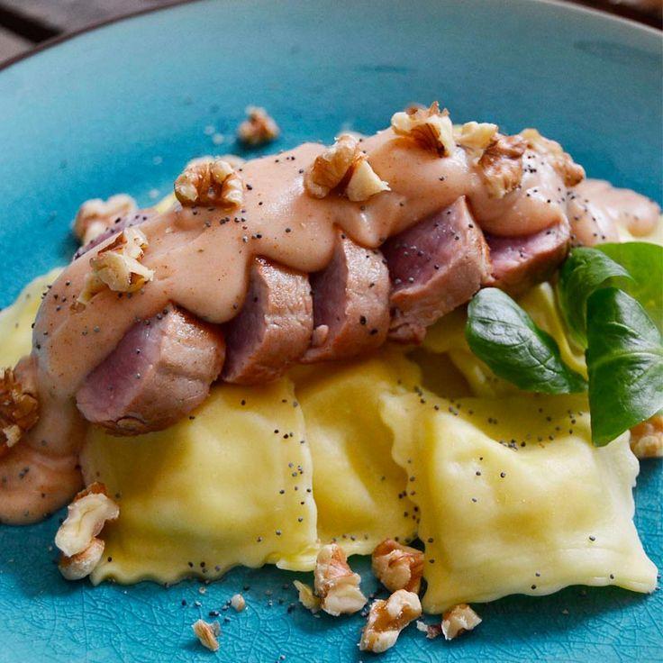Solomillo con salsa ras el hanout elaborado con bebida de almendras Almond Breeze