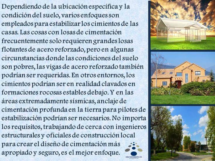 Dependiendo de la ubicación específica y la condición del suelo, varios enfoques son empleados para estabilizar los cimientos de las casas... www.drmprefab.com