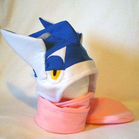 Pokemon Inspired Greninja Fleece Hat MADE TO ORDER by Higginstuff