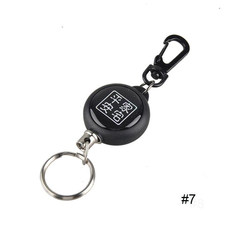 EDC Outdoor Camping Steel Rope Burglar Keychain Stalker Soft Shell Tactical Retractable Key Chain Key Return Keyring 2503045