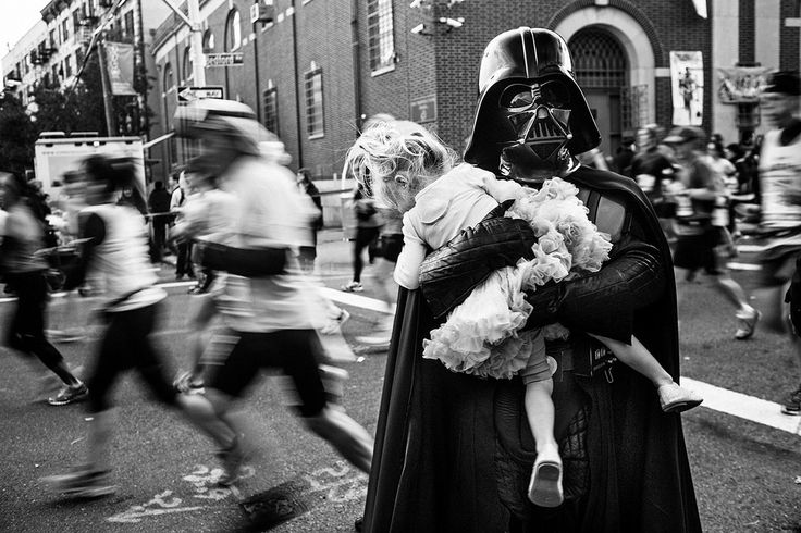 Darth Vader and Tutu | New York City, Taken by Benjamin Lowy
