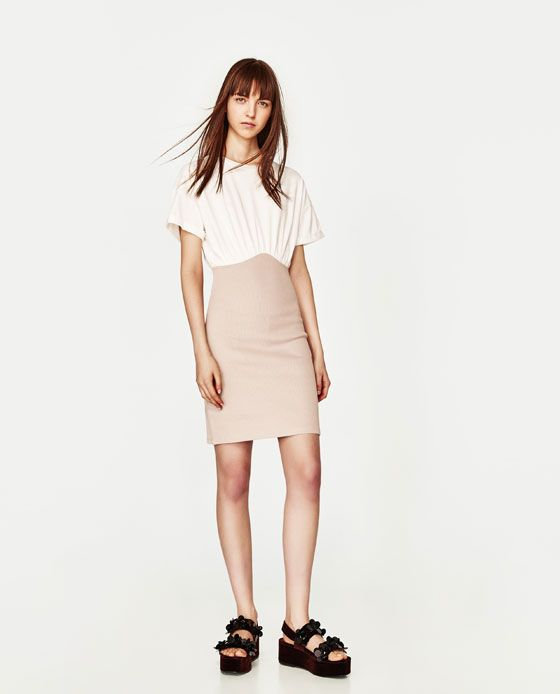 ZARA - WOMAN - CONTRAST DRESS
