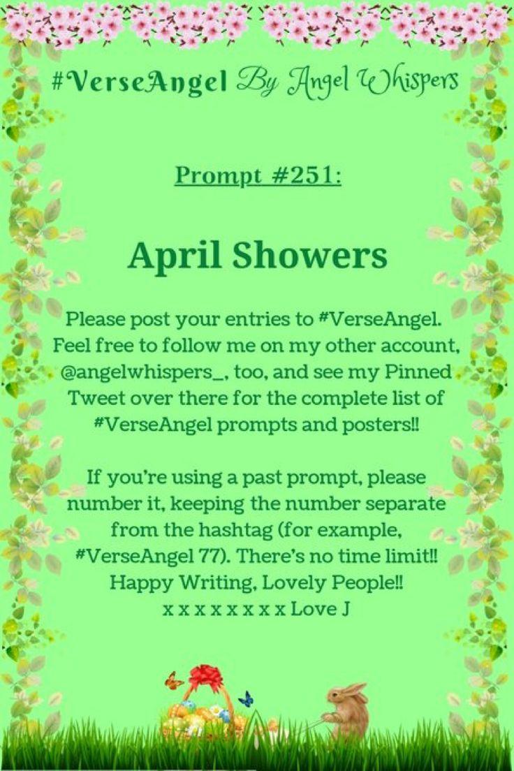 #VerseAngel Prompt 251: April Showers | Poetry prompts