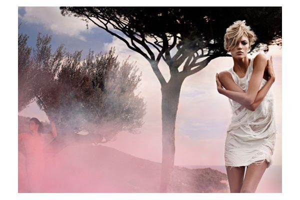 Fendi Spring 2010 Campaign | Anja Rubik by Karl Lagerfeld