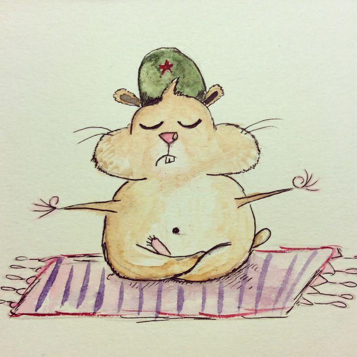 Russian hamster Gosha illustration