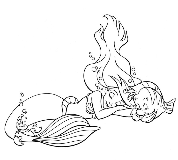 Little Mermaid Coloring Pages Coloring Coloring Pages