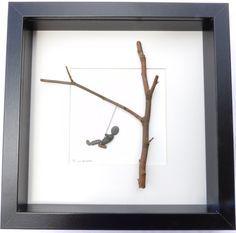 Schottische Kiesel Kunst Bild: schwingen von PebblePictures auf Etsy