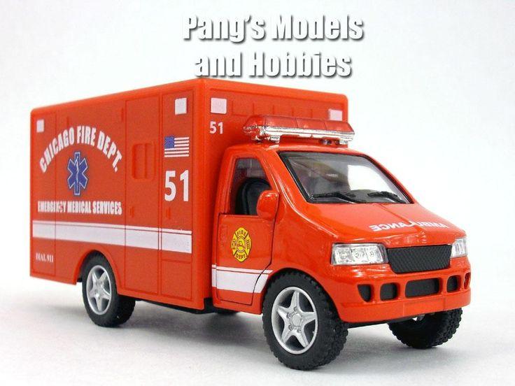 5 Inch Chicago EMS Ambulance Model by Kinsfun