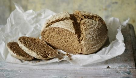 Baltic rye bread rolls with garlic butter topping - Hairy Bikers recipe