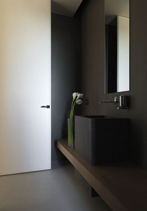 ♂ Contemporary residential interior design Minimalist Dark bathroom