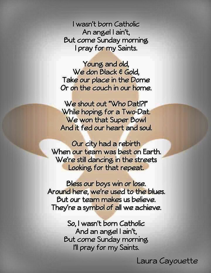 I Pray for My New Orleans Saints. Beautiful Poem. | My New ...
