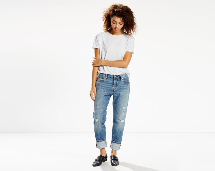 The evolution of an icon. The 501® Original, customized with a perfect tapered leg. With a classic button fly, the 501® CT Jeans feature a straight fit through the hip and thigh with a tapered leg that we wear rolled for style. Size up for a relaxed look or downsized and sexy, depending on your style.