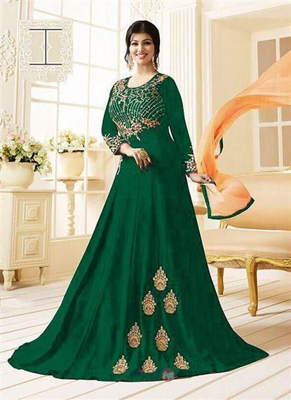 85849b11b9 Ayesha Takia Designer Party Wear Embroidery Work Georgette Floor Length  Anarkali Suit Collection #wedding #