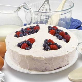BiAcayip.com'da Fred & Friends Savaşa Hayır Pasta Kalıbı (Peace of Cake)