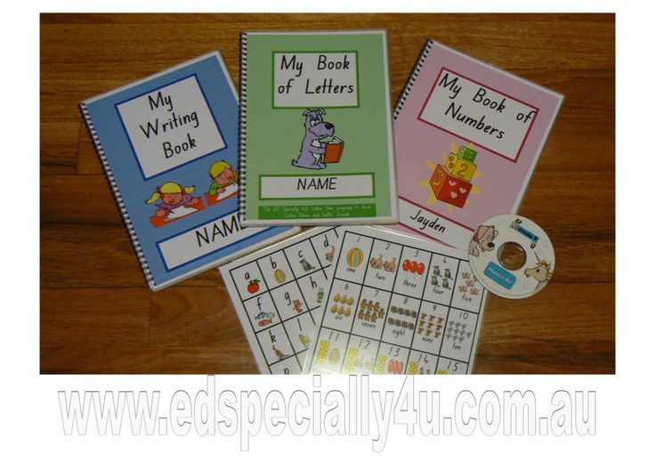 A fun, colourful early learning resource that helps your child prepare for BIG school.  Resource includes write on/wipe off booklets, Phonics 4U CD and alphabet/number charts.  Great fun for learning at home www.edspecially4u.com.au