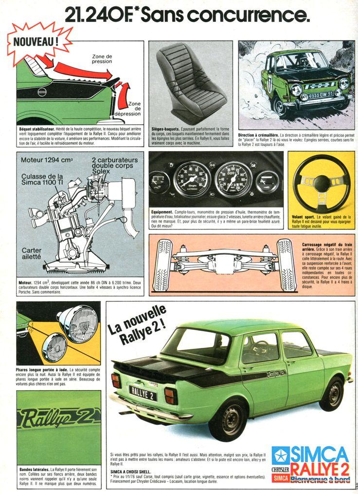 Publicité Simca - L'Automobile février 1976.