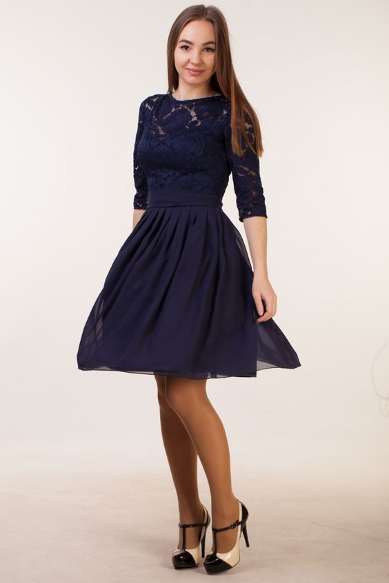 Short navy blue dress with sleeves Navy blue bridesmaid dress with sleeves Navy blue cocktail dress Navy party dress Navy blue lace dress by HelensWear on Etsy https://www.etsy.com/listing/481159266/short-navy-blue-dress-with-sleeves-navy