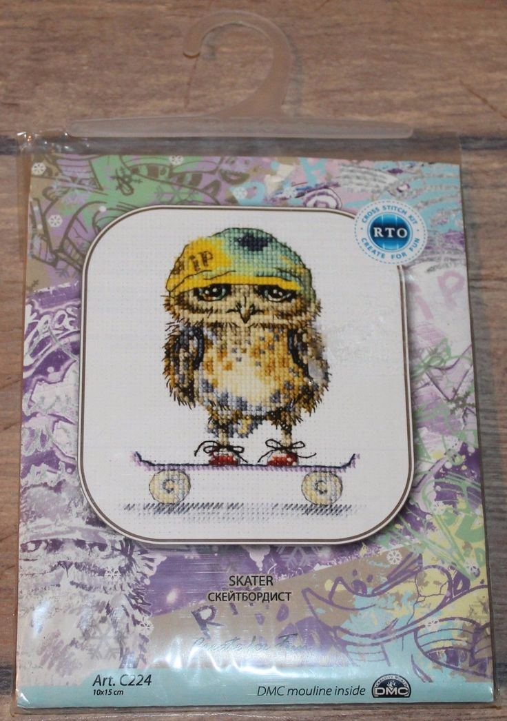 Skater counted cross stitch kit by RTO | eBay