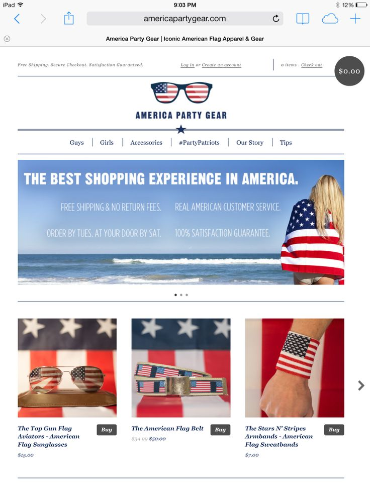 AmericaPartyGear.com The most patriotic gear on the World Wide Web! America Gear for the 4th of July & Spring Break