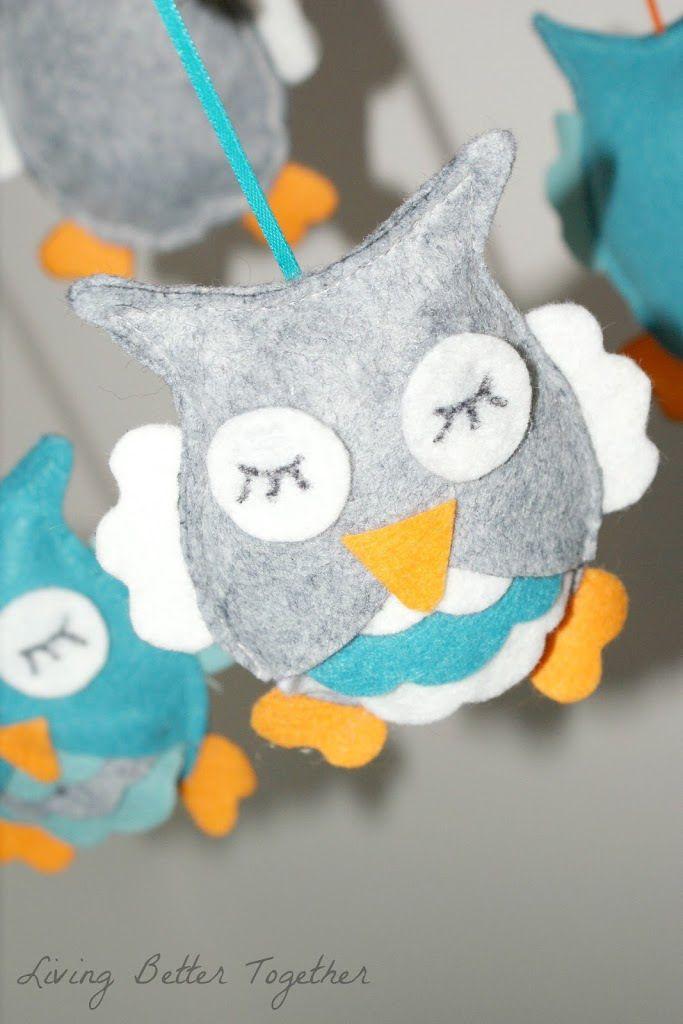 Felt Owl Mobile - Living Better Together