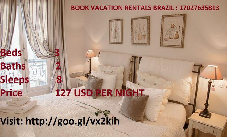 Wonderful 3 bedroom rental apartment for rent in Brazil