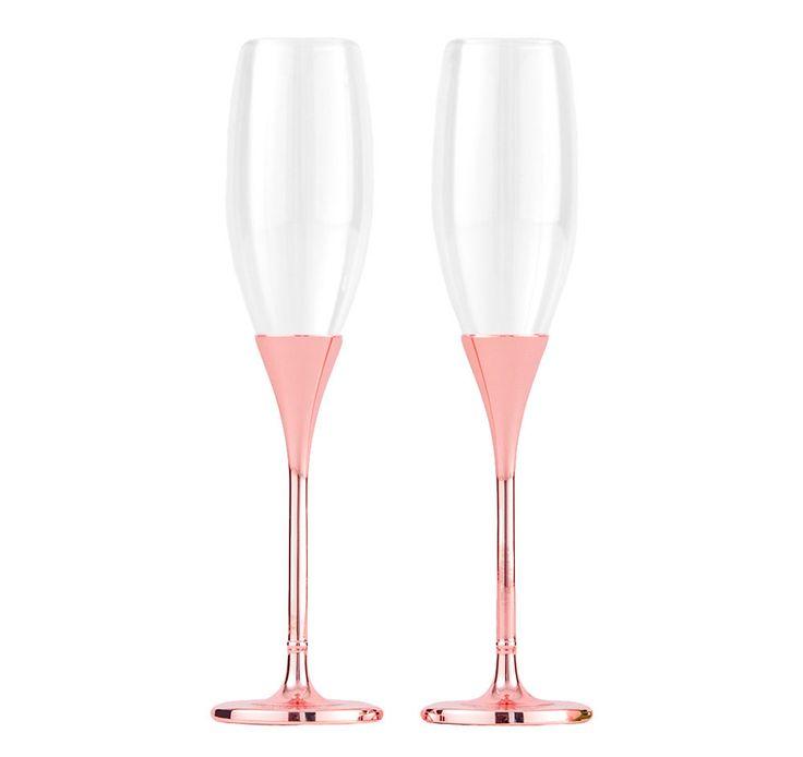 Copas de boda en color rosa dorado, hermosas, originales, modernas y románticas, disponible en nuestra tienda d.f bajo pedido. #boda #boda2017 #tiendasbonitas #tiendasconencanto #copasconestilo