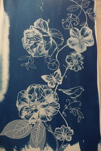 Drawing with a bleach pen