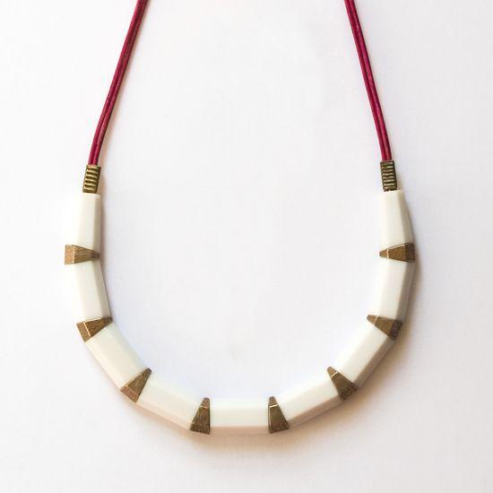 White Raspberry Pencil Necklace | Karina Jean