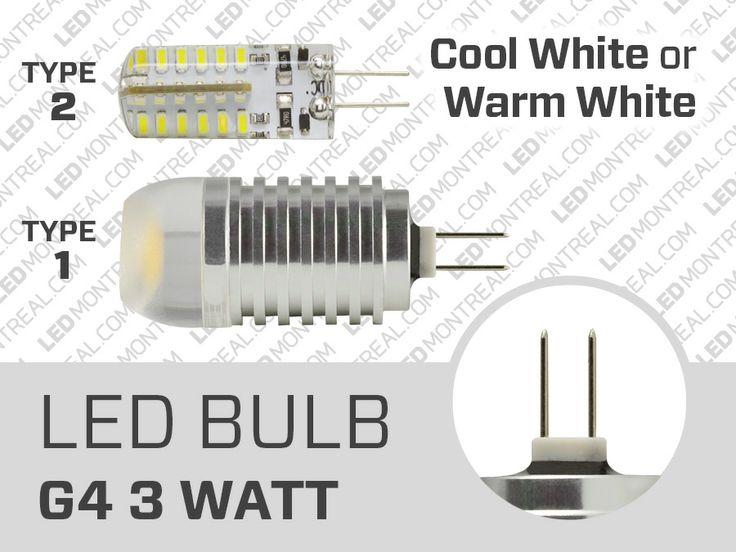 Ampoule LED G4 12V 3 Watt - LED Montréal