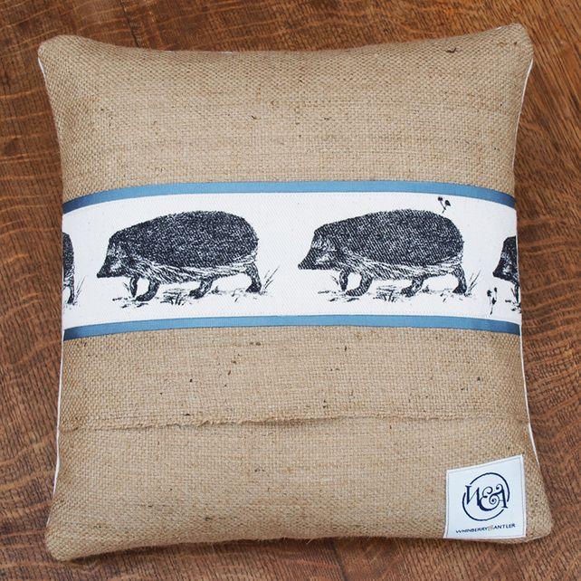 Hand Printed Hedgehog Cushion £28.00