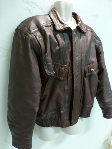 St John S Bay Genuine Leather Bomber Jacket Men S Large