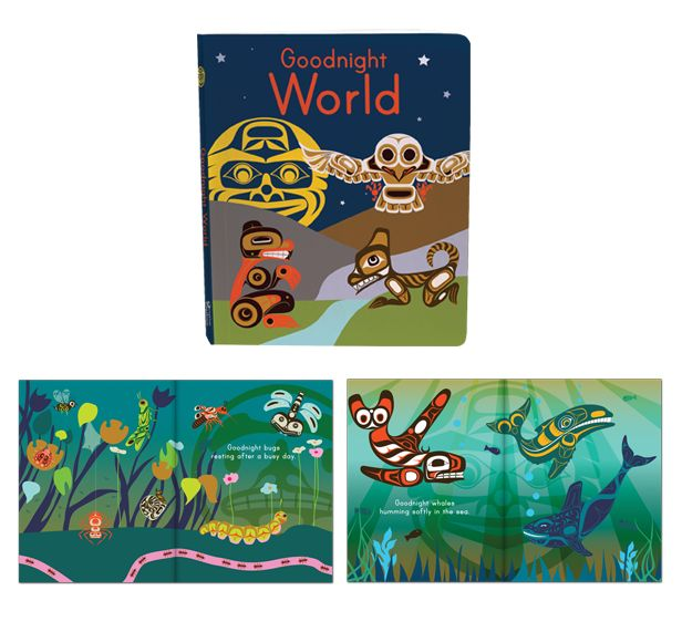 I just discovered this website for First Nations educational material done in a modern/traditional way. So impressed. I read a few of the books to my son at preschool today. Will be ordering Goodnight World for sure.