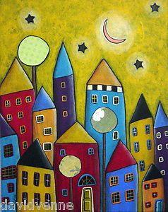karla gerard   Sun City Houses 8x10 Canvas Giclee Print Karla Gerard   eBay