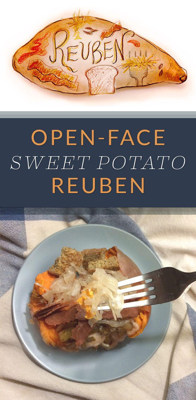 Open Face Sweet Potato Reuben