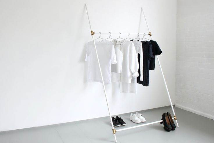 Clothing rack diy by LOVE AESTHETICS | by Ivania Carpio