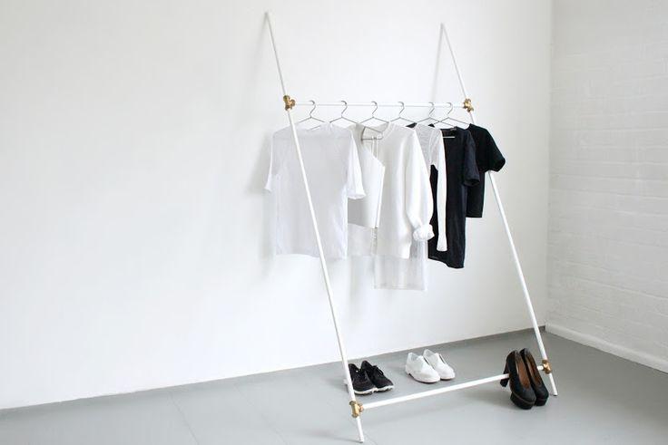 Clothing rack diy by LOVE AESTHETICS   by Ivania Carpio