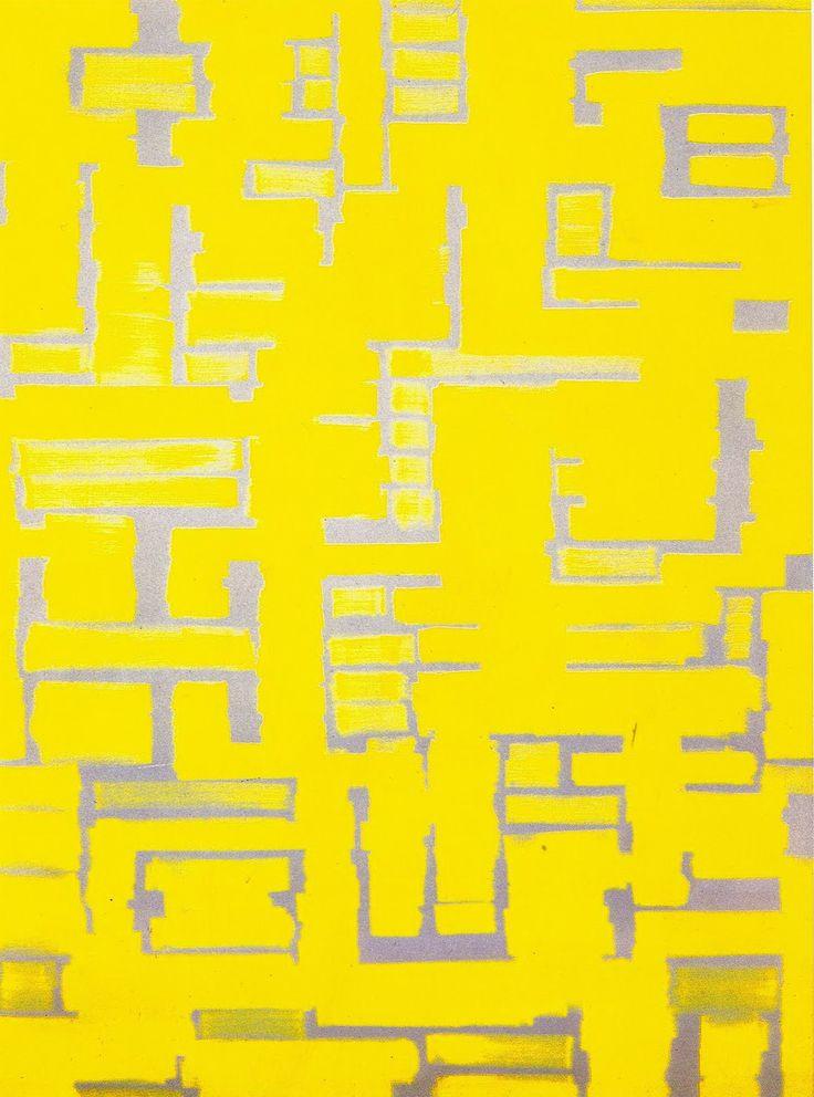 Ad Reinhardt - Yellow and White (1950)