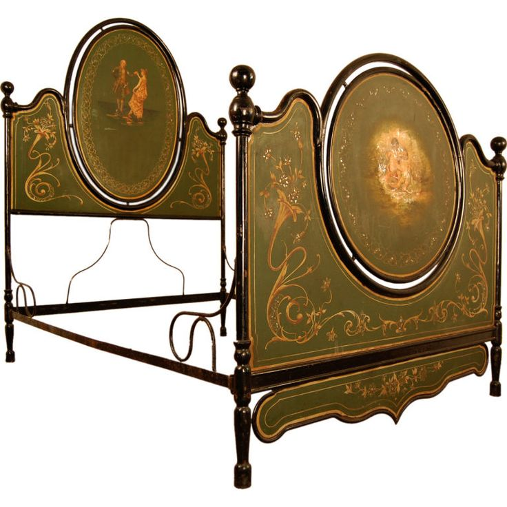love...love...this 1800's Antique Italian Painted Tole Bed....