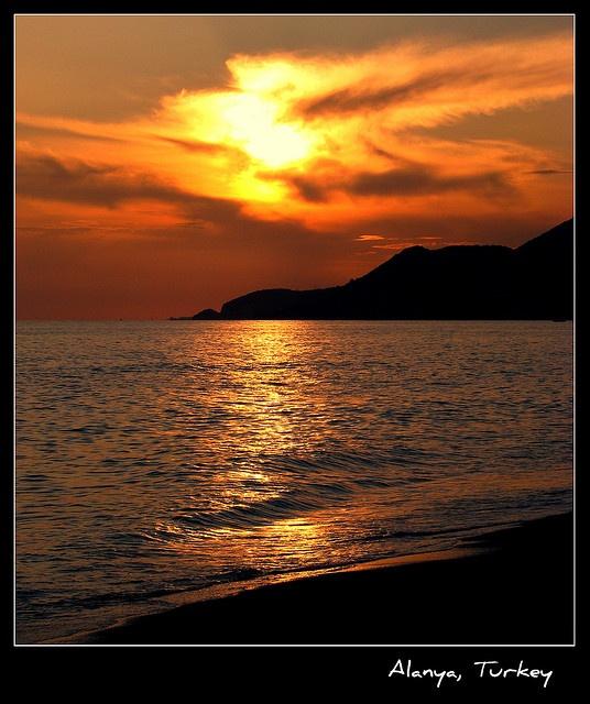 Sunset, Alanya, Turkey--Photographed by Özgür Mülazımoğlu