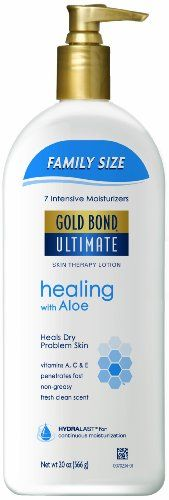 Gold Bond Ultimate Healing Skin Therapy Lotion Family Size, Aloe, 20 Ounce Gold Bond http://smile.amazon.com/dp/B008B9L6WS/ref=cm_sw_r_pi_dp_312Rvb1J1861G