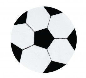 Felt Soccer Ball Craft Activity - Children craft a fun felt soccer ball to hang on the wall & get into the team spirit.