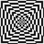 """""""optical illusion Art Warp..."""" - oh, how hard the brain tries to make it hold still ~:^)>"""